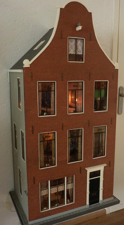 Grachtenpand - In Het Mini - Koddels, Poppenhuizen en Miniaturen