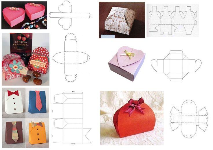 Коробочки для подарков своими руками: шаблоны для Нового года