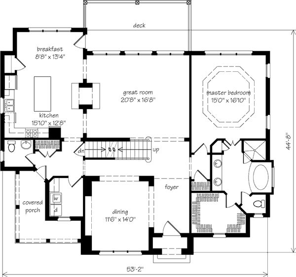 Bedrooms 4 actual 4 possible baths 3 full 1 half for Half basement house plans