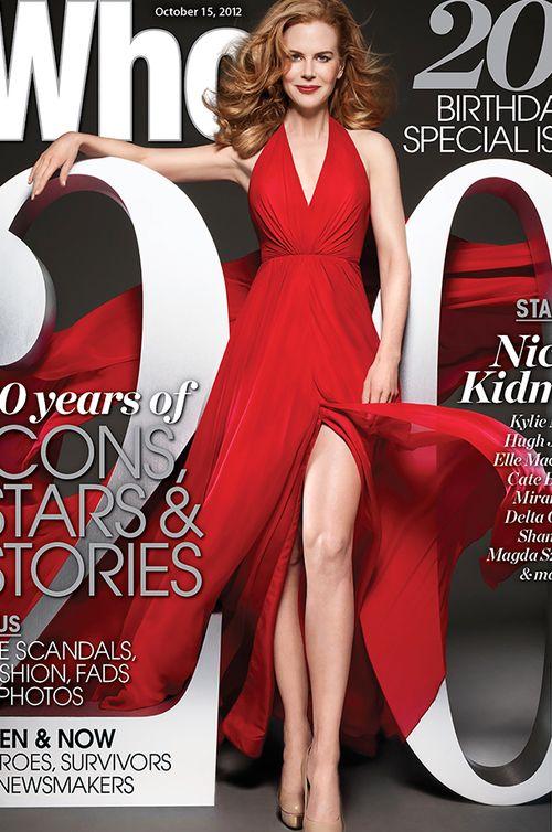 Oscar Award-Winning Actress, Nicole Kidman wears Romona Keveza - Who Magazine 20th Birthday Special Issue