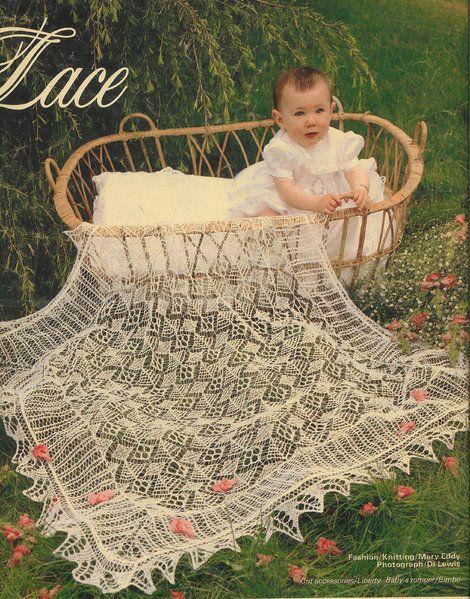 Treasure in Lace - shetland lace shawl - vintage baby knitting pattern
