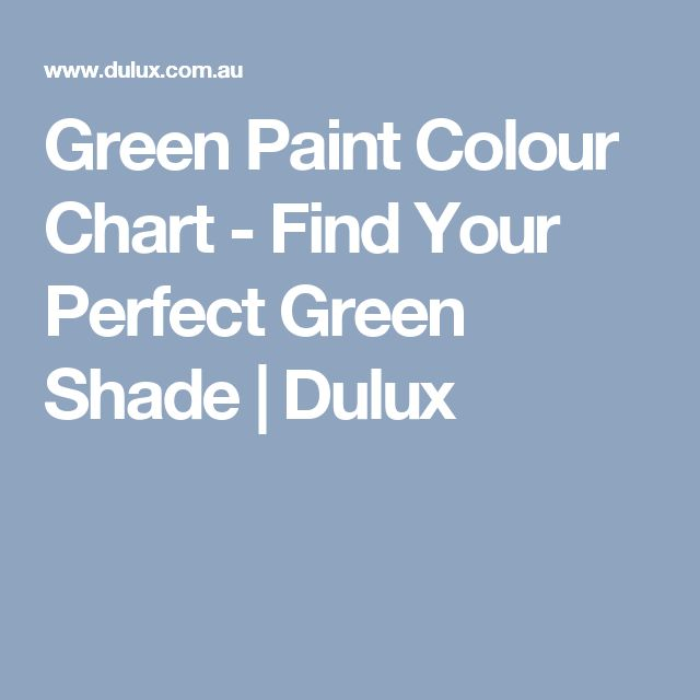 Green Paint Colour Chart - Find Your Perfect Green Shade | Dulux