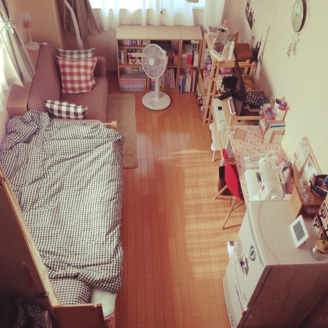 nana97さんの、部屋全体,一人暮らし,1K,模様替え,賃貸,のお部屋写真