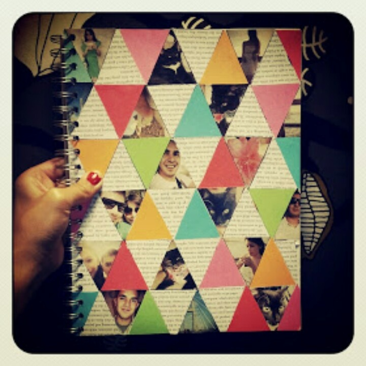 I wouldn't use pictures, but I love the interesting triangle design #journalnerd