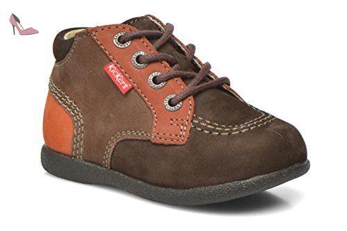 Kickers Babystan, Bottes Mixte Bébé, Multicolore (Marron Foncé Orange), 24 EU - Chaussures kickers (*Partner-Link)