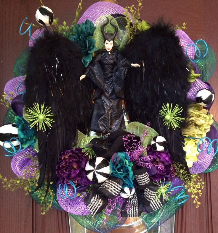 Maleficent Party Maleficent Decor Maleficent by BaBamWreaths