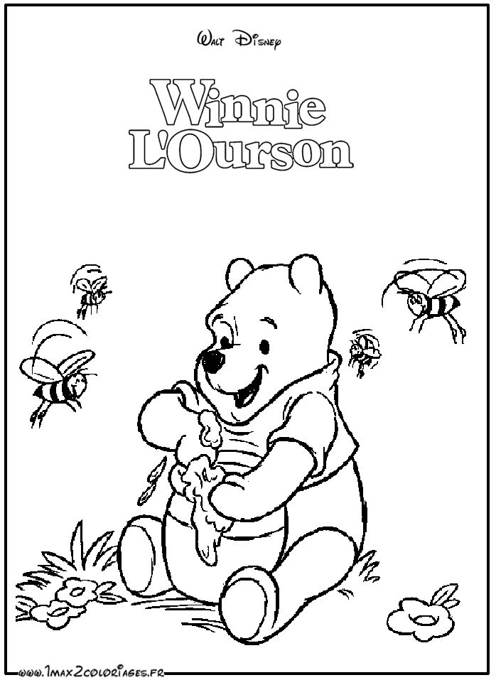 Plus de 25 id es uniques dans la cat gorie dessin winnie l ourson sur pinterest dessiner - Coloriage winnie l ourson ...