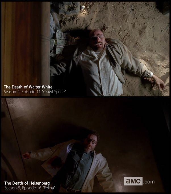 "Walt's death scene is a really excellent callback to ""Crawl Space"" from Season 4. 