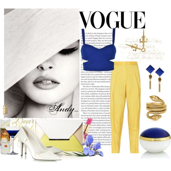 """Be fab in blue and yellow!!"" by andyts on Polyvore"