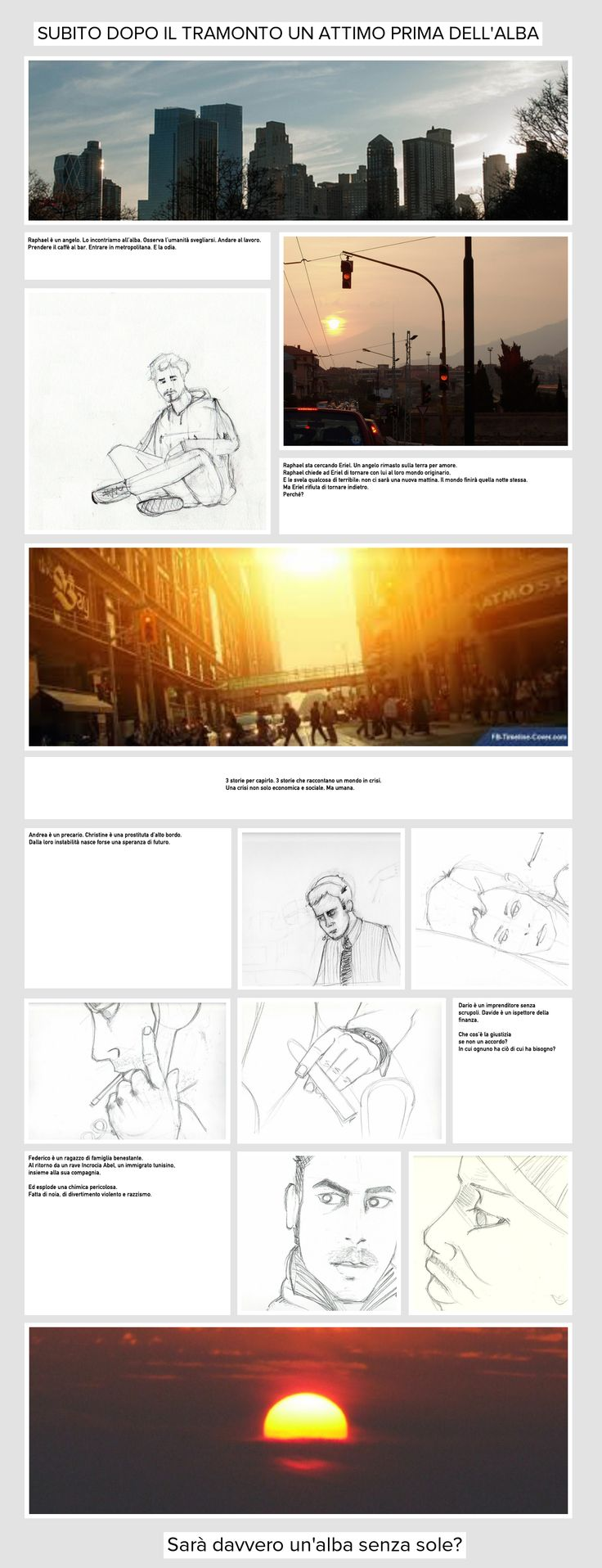 Moodboard per la progettazione di un web-film