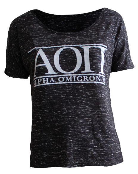Alpha omicron pi tee by adam block design custom greek for Custom sorority t shirts