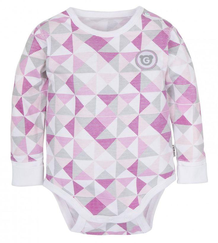 GMINI PLUS-body DR E růžová potisk   Kašpárek Baby