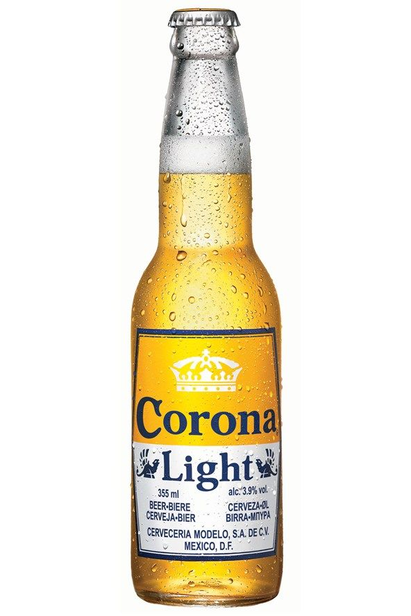 For Corona Light  It's just as well then, that the masters behind the lager decided to create a light version, which tastes just as good with a wedge of lime stuffed in the bottle neck.   Calories: 105