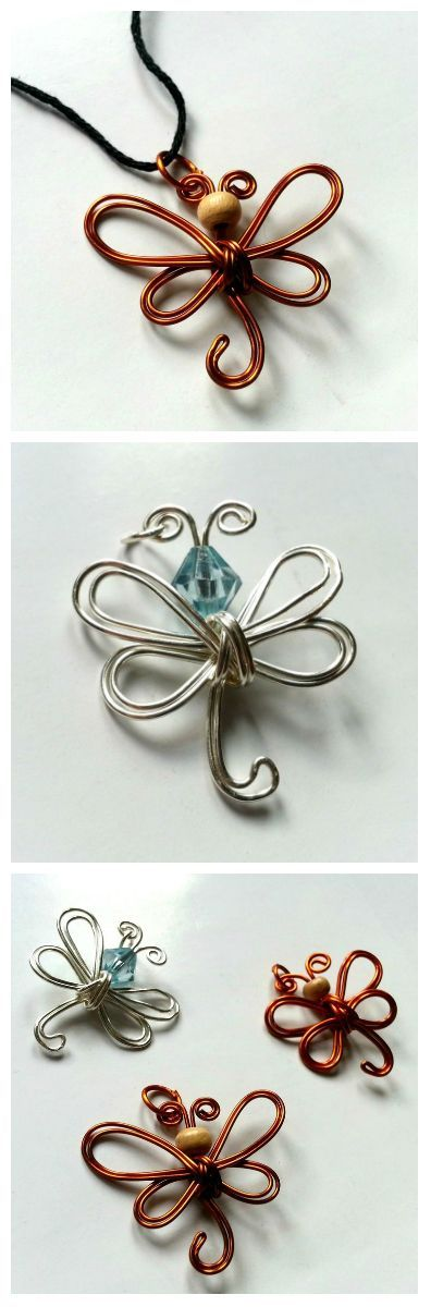 Simple Wire Dragonfly Pendant #jewelry #necklace