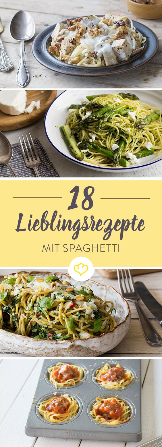 Schnell gemacht mit nur einem Topf, mit ausgefallenem Pesto oder raffiniert mit Rotwein gekocht - hier kommt die Spaghetti 18 Mal ganz groß raus!