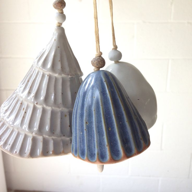 1000 images about ceramic wind chimes bells and mobiles for How to make ceramic painting