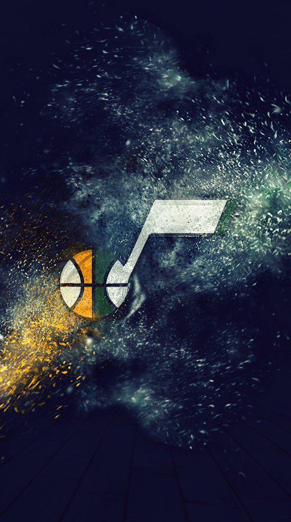 Utah Jazz: Phone Wallpaper Designed by: Matthew Harvey; MWH Studios
