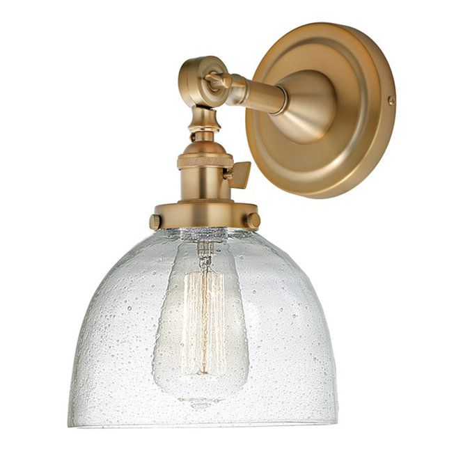 Seeded Glass Dome Single Swivel Sconce Sconces Wall Sconces Wall Sconce Lighting