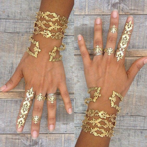 Eastern Patterned Fleur Jewellery Rings Cuffs Bracelets | M BY MAGGNOLIA