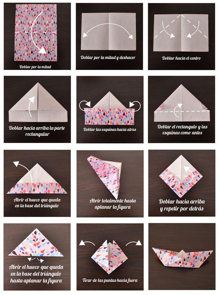 Hacemos un móvil con barcos de papel de origami con tutorial paso a paso de cómo hacer los barcos de papel y como hacer la estructura del móvil papiroflexia