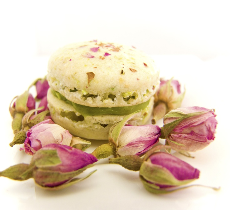 Pin By On C A R S: Rose Pistachio Macaroons