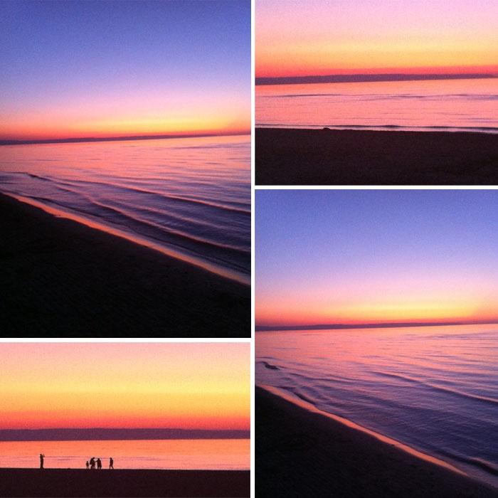 Sunset over Wasaga Beach