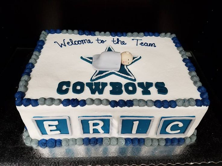 baby shower cake baby shower cakes pinterest dallas cowboys baby