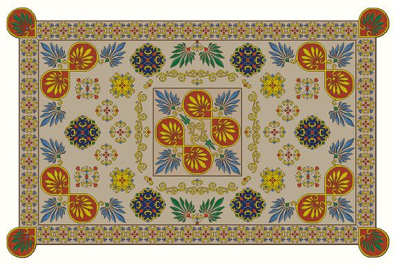 Divine  tablecloth unique design by Juliet Rose Tapestry embroidery Cross stitch pattern Not reproduction  Instant download PDF