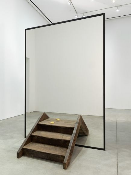Alicja Kwade But the Same (fig. III) 2016 Wood, mirror, blackened steel 118 x 84 x 72 inches (299.7 x 213.4 x 182.9 cm) Unique AKW 289