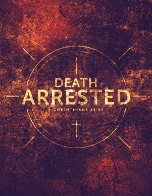 Great for spreading the word through your community or announcing an upcoming event or revival, this church flyer proudly proclaims that death has been arrested and there is a resurrection for those who place their faith and hope in Jesus Christ and the Resurrection. #Sharefaith #Easter #EasterMedia #Faith #ChurchMedia #Flyer