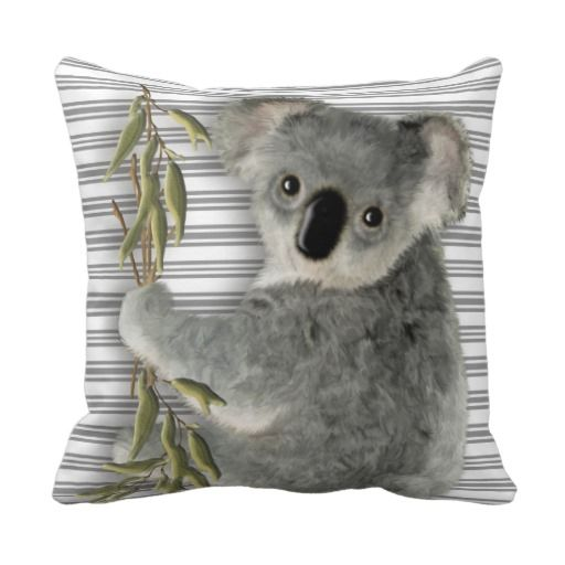 Cute Koala Throw Pillows #Koala #cute #pillows