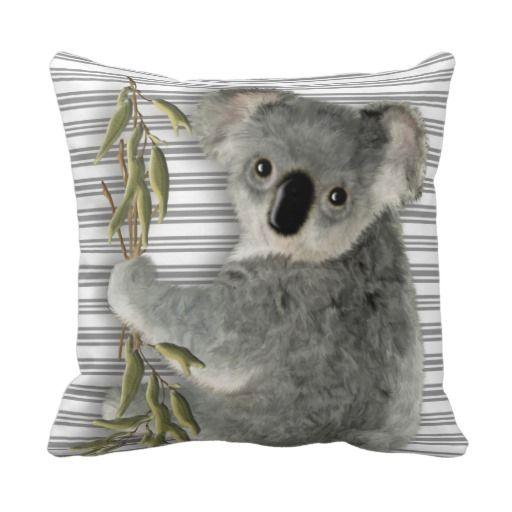 Cute Koala Throw Pillows #Koala #cute #pillows
