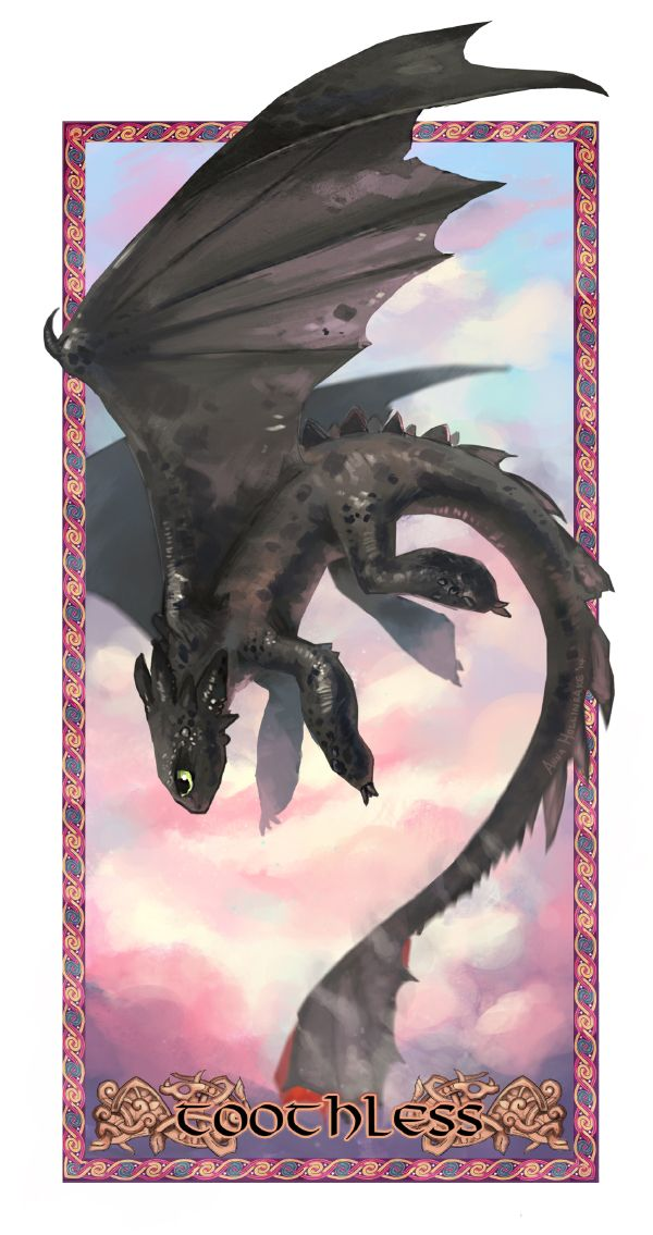 Toothless in Pastel by AnnaHollinrake.deviantart.com on @deviantART