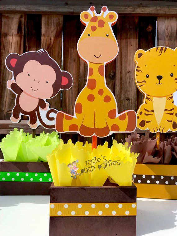 Set of 20 Safari zoo animals theme Jungle Jungle Themed Baby Shower Napkins