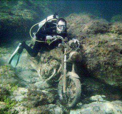 Diving / Racing Against Debris - Paphos, Cyprus