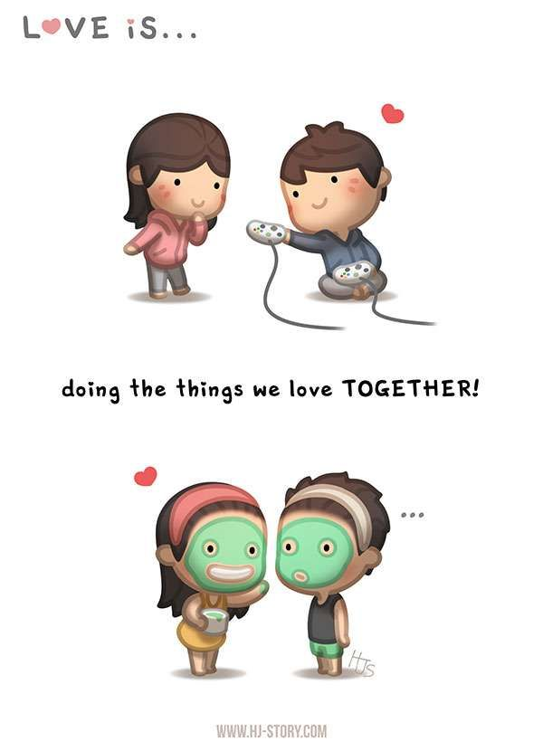 HJ-Story :: Love is... Doing things together! | Tapastic - image 1