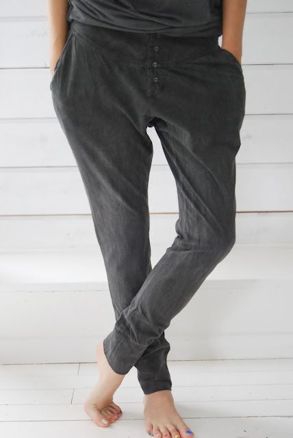 NEED! Love how you could dress these pants up for work or down for just lounging. Must find out where to buy these...