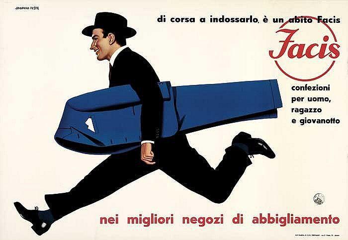 Facis, confezioni per uomo, ragazzo e giovanotto - 1955 - (Armando Testa) -