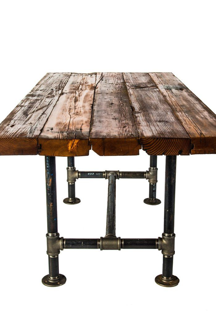 Industrial Pipe Base Fir Harvest Table