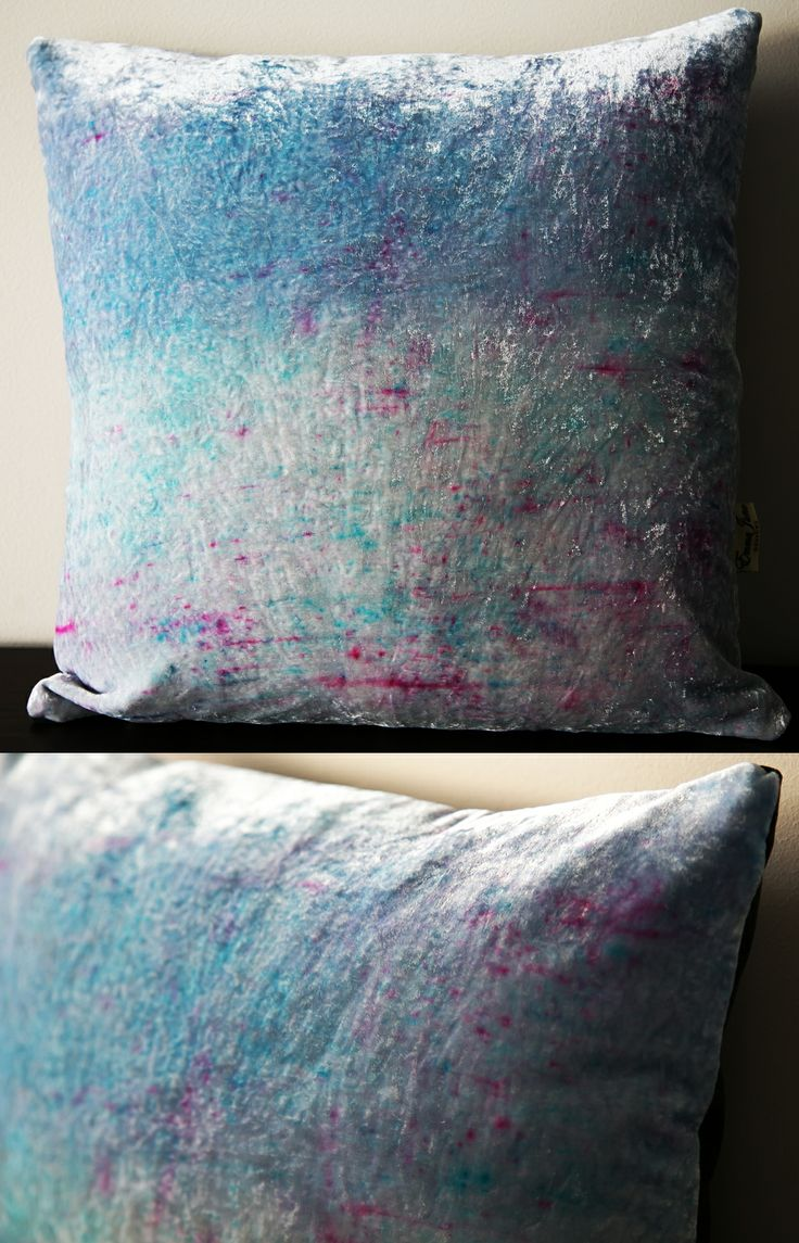 Spring inspired velvet ombre cushion available from my Etsy store:  www.etsy.com/listing/183884288