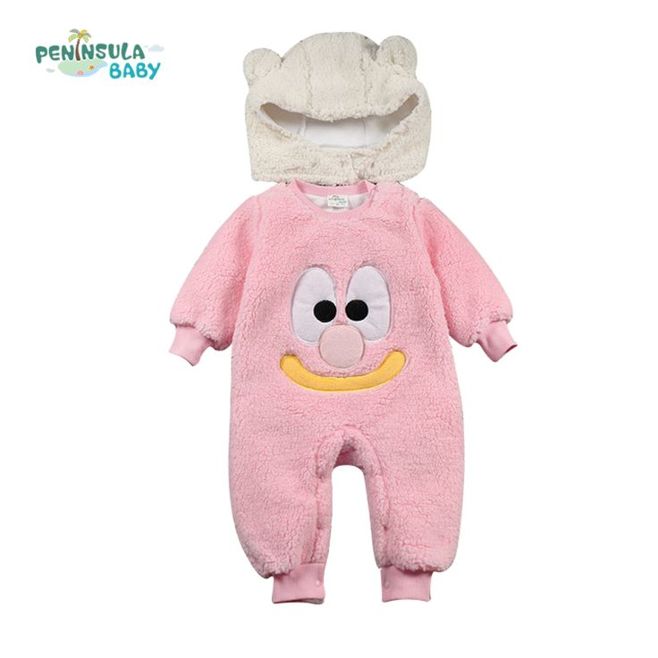 >> Click to Buy << 2016 spring winter hot coral fleece romper set funny cartoon long-sleeve baby boy clothing girl clothes newborn warm suit #Affiliate
