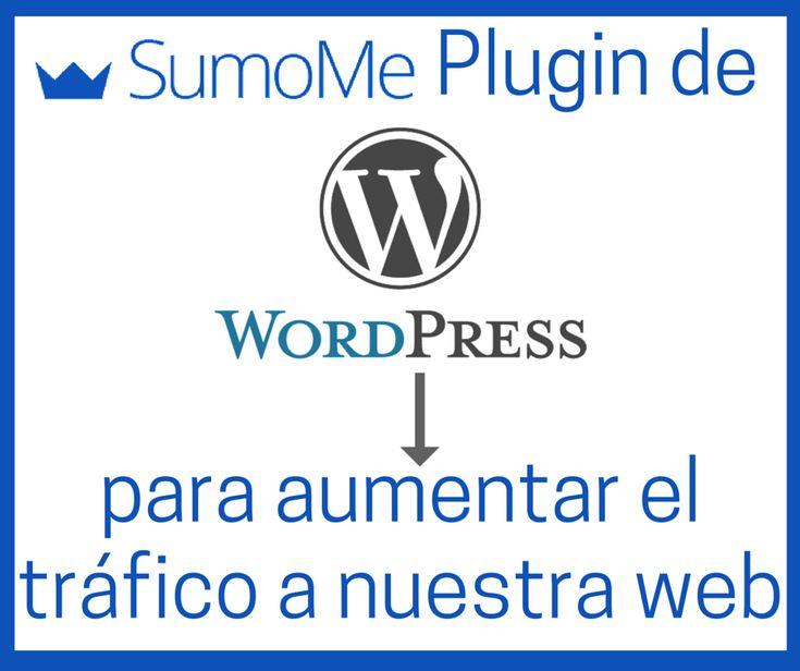 SumoMe es un Plugin WordPress con un conjunto de multi herramientas y utilidades gratuitas para aumentar el tráfico para nuestro sitio web. plugin SumoMe