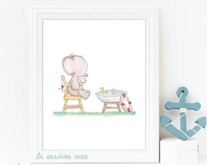 Affiche Bebe Elephant Poster Chambre Enfant Affiche Animaux Du