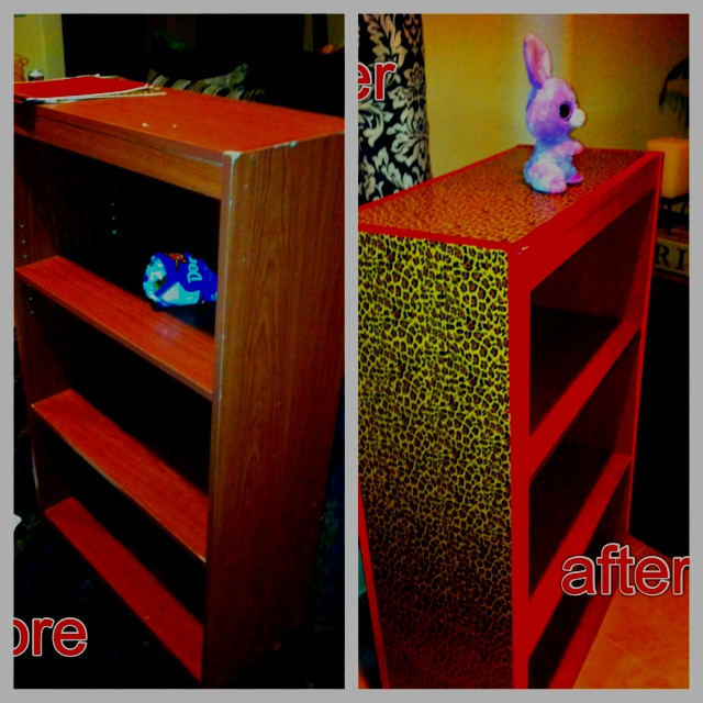 I Used Duct Tape To Redo My Particle Board Bookshelves For