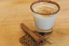 Cinnamon Toast Crunch Shot Fireball with Cinnamon Sugar Rim Gotta try this!!!
