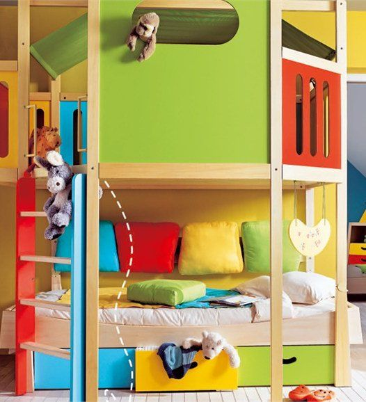 CALICO Kid Bedroom By GAUTIER FRANCE #colour #child