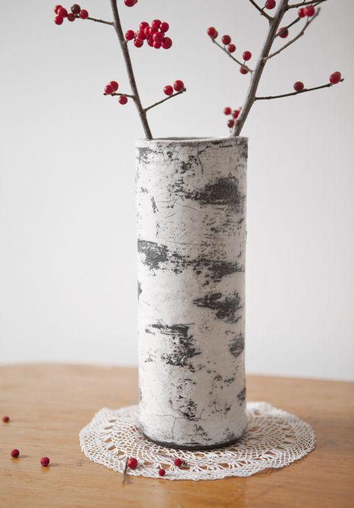 Handgefertigte Birkenvase #dekoration #selbstgemacht #diy Nice Design