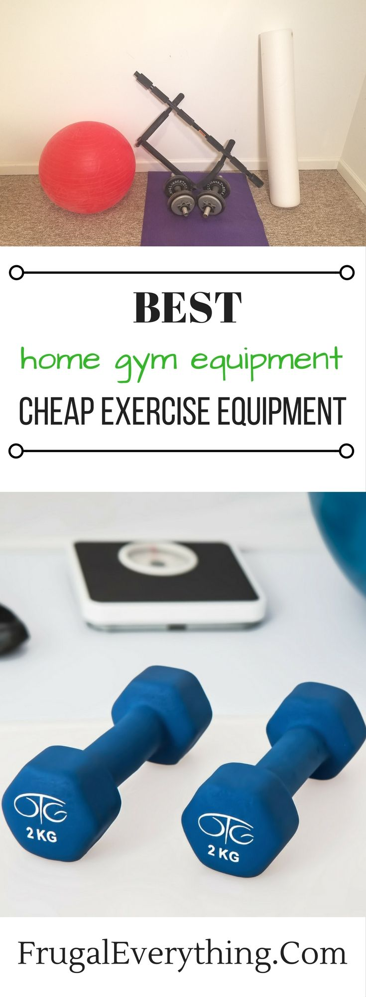 Looking to build your own home gym on a budget?  Here is a list of the best cheap exercise equipment to add to your home gym.