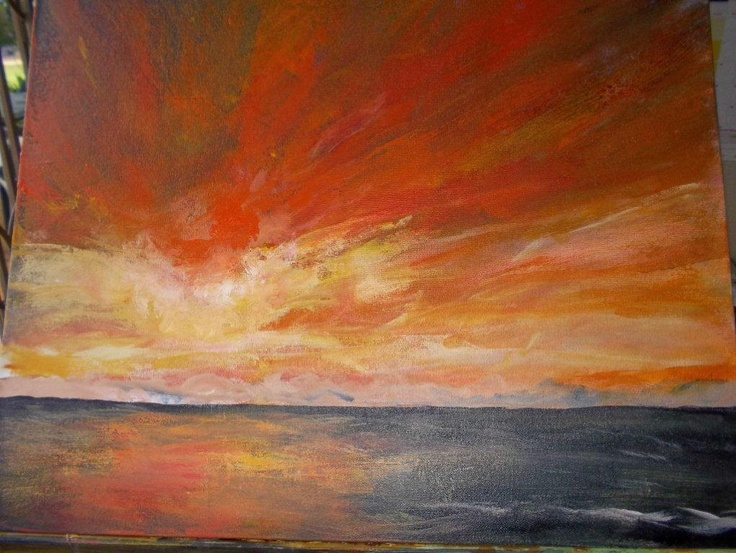 Seascape inspired by Mads - by Janine Lloyd