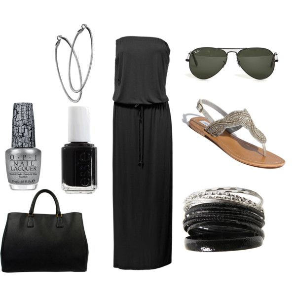 Black and Silver, created by cygarcia89 on Polyvore